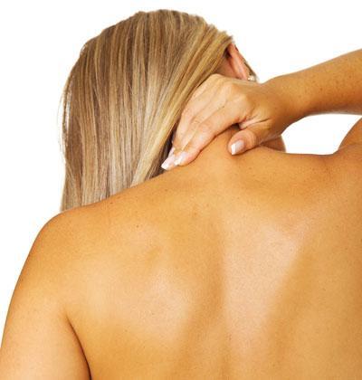 Массаж задней поверхности шеи